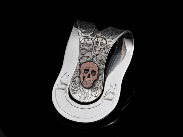 14k Skull Big Wad Money Clip