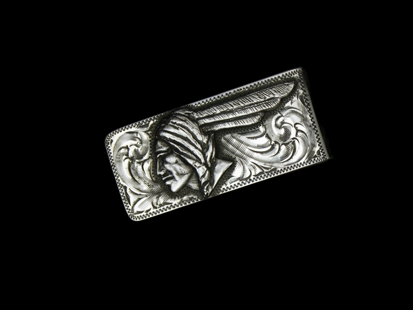 Pontiac Money Clip, Sterling Silver or 14k Gold
