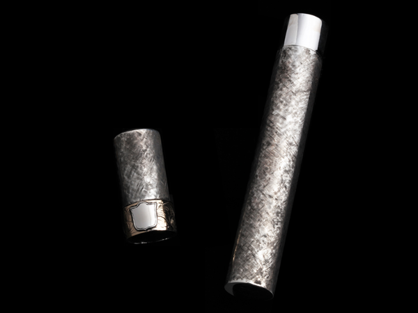 Sterling and 14k Cigar Tube