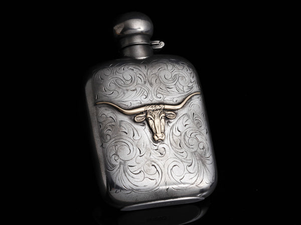 Carved Longhorn Flask, Two Colors