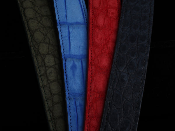 CH Exclusive Suede Alligator Belts (Statement Colors)