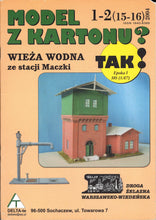 Load image into Gallery viewer, Water Tower At the Station Maczki on the Warsaw Vienna Railroad For HO, TT And OO Scales Title: Wieza Wodna ze stacji Maczki