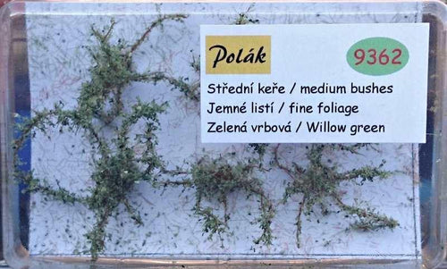 Willow Green Bushes 2. - 3 cm Bushes With Fine Foliage  Item 9314 - Poland's Best Home & Hobby