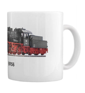 Freight HaulingSteamEngine BR56 Coffee Cup Gift Idea