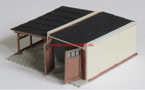 Laser Cut Garage With Carport - Poland's Best Home & Hobby