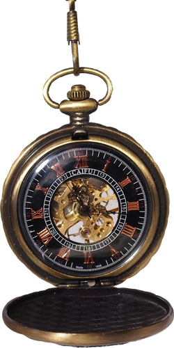 Rocco Faced Mechanical Movement Skeleton Pocket Watch