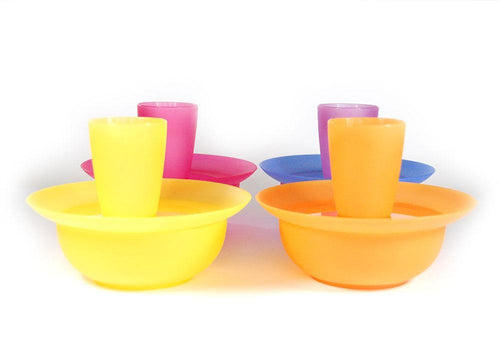 Cups Bowls Plates For 4 People