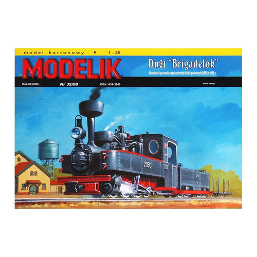 Narrow Gauge Steam Engine Model Dn2t Brigadelok - A Warrior Engine