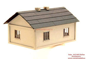 Country House With Asphalt Roof Laser Cut HO Scale Model