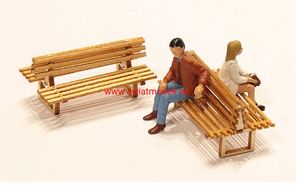 6 Laser Cut Double Sided Platform Benches