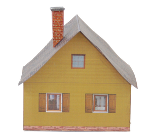 Free Plan For A Painted Wood House