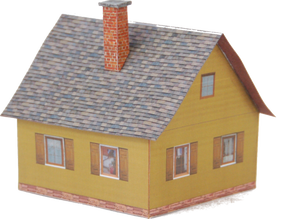 Free Plan For A Painted Wood House - Poland's Best Home & Hobby