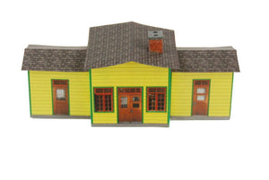 Small Country Railroad Station Plan 42 Cardstock Model