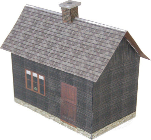 Dark Wood Small House Carton Model Plan 10