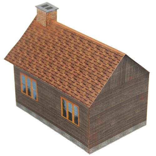 Dark Wood Small House Carton Model 2 Plan 1 1