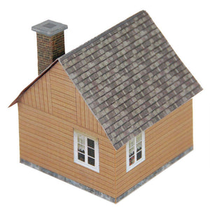 Small Wood House Carton Model Plan 1 4