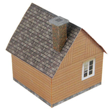 Load image into Gallery viewer, Small Wood House Carton Model Plan 1 4