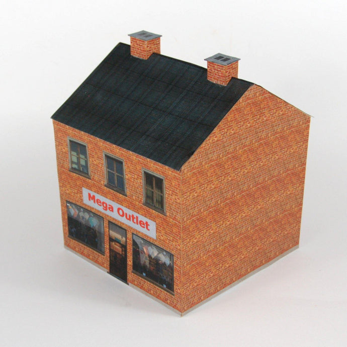 Two-Storey Store Front Plan 16 Carton Model - Poland's Best Home & Hobby