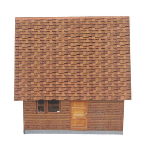 Small Country Cabin Carton Model Plan 24