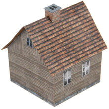 Load image into Gallery viewer, Small Aged Wood House Carton Model Plan 28 - Poland's Best Home & Hobby
