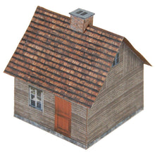 Load image into Gallery viewer, Small Aged Wood House Carton Model Plan 28