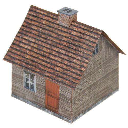 Small Aged Wood House Carton Model Plan 28