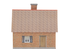 Load image into Gallery viewer, Small Brick House 3 Carton Built Model Plan 4