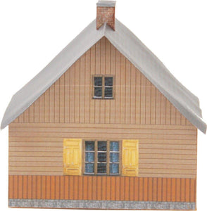 Wood Country House Carton Built Model Plan 5
