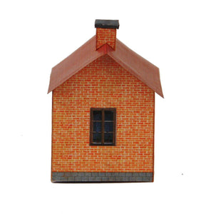 Small Red Brick House Carton Built Model Plan 6