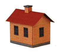 Load image into Gallery viewer, Small Red Brick House Carton Built Model Plan 6