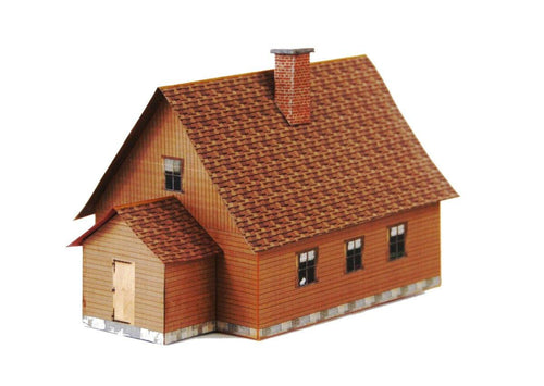 Wood Single Family House Carton Model Plan 7