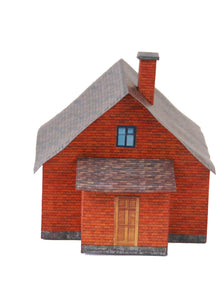 Brick Single Family House Carton Model Plan 8 - Poland's Best Home & Hobby
