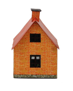 Red Brick Single Family Farm House Carton Model Plan 9