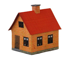 Load image into Gallery viewer, Red Brick Single Family Farm House Carton Model Plan 9