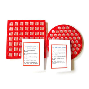 Ravioli Maker Combo for Regular and Toasted Ravioli plus 2 Books