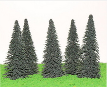 Load image into Gallery viewer, Spruce Trees 8 cm For Diorama, Model Railway Layout, Architectural Models