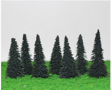 Load image into Gallery viewer, Spruce Trees 5.4 cm For Diorama, Model Railway Layout, Architectural Models