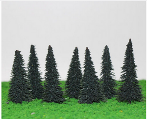 Spruce Trees 10.8 cm For Diorama, Model Railway Layout, Architectural Models