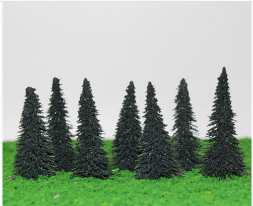 Spruce Trees 8 cm For Diorama, Model Railway Layout, Architectural Models