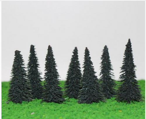 Spruce Trees 5.7 cm For Diorama, Model Railway Layout, Architectural Models