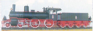 German Steam Locomotive for Passenger Trains From 1898 Od2