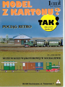 Narrow Gauge Steam Engine With Vintage Cars And Station Diorama For HO, OO, TT Scale Title: Pociag Retro - Poland's Best Home & Hobby