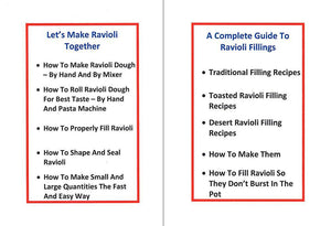 Ravioli King Toasted Ravioli Maker Plus Two Recipe e-Books