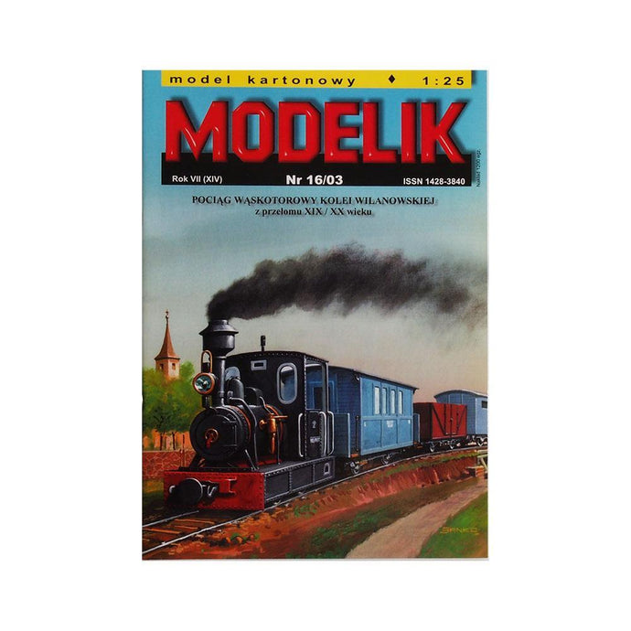 Narrow Gauge Steam Locomotive + 4 Cars From the Turn of the Century XIX/XX Wilanowska