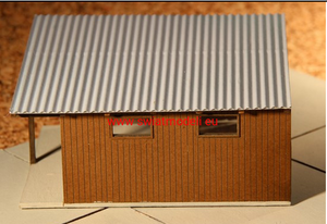 Laser Cut Workshop Or Small Warehouse With Corrugated Metal Roof Roof - Poland's Best Home & Hobby