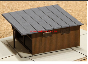 Laser Cut Workshop Or Small Warehouse Coverered With Tarred Felt Roof.