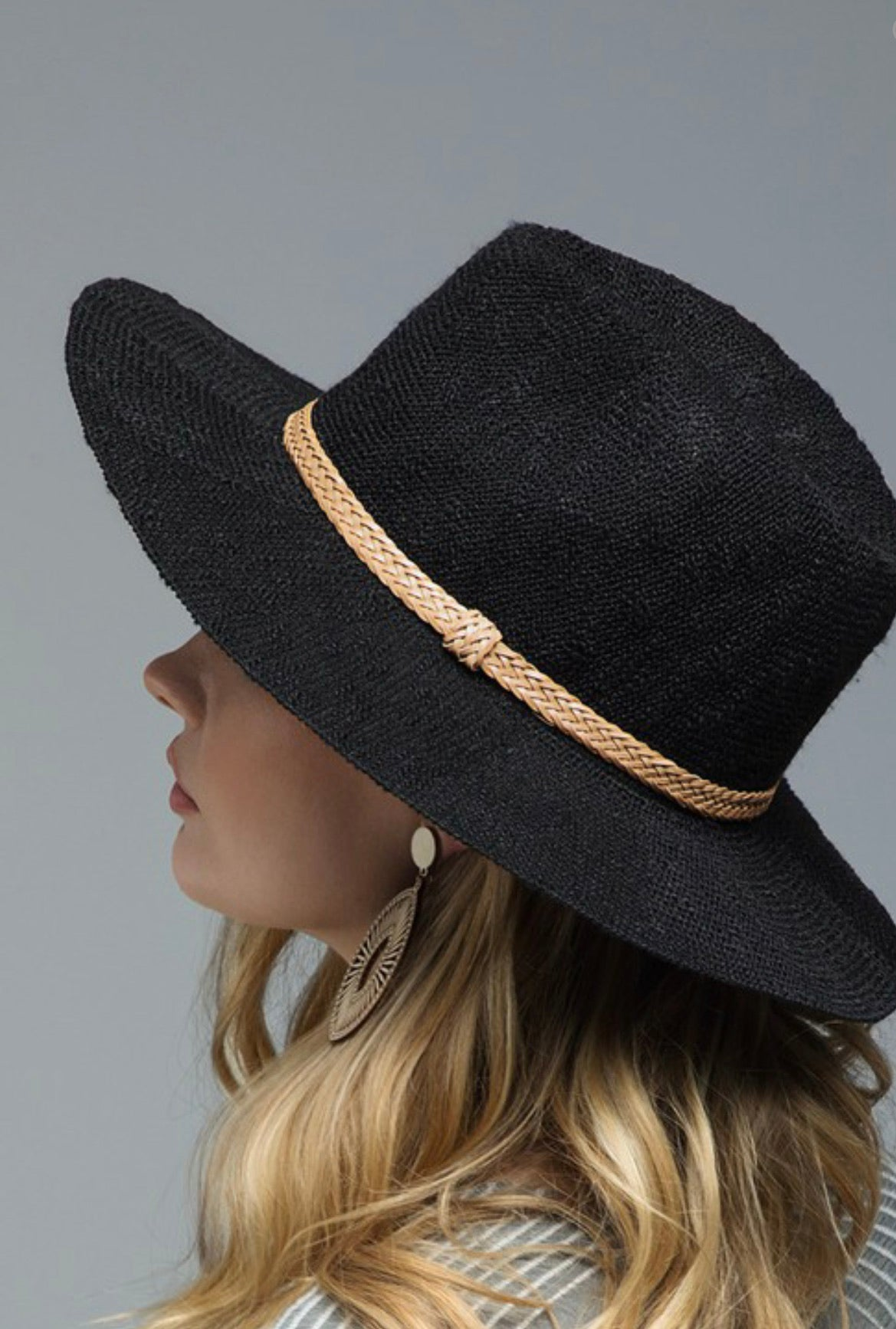 Hampton Fedora Hat Black