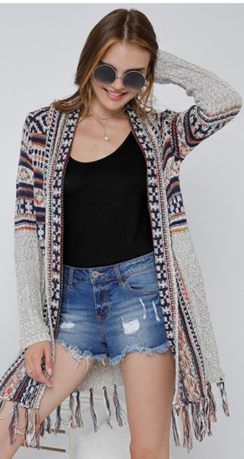 Let's Stay Home Fringe Cardigan