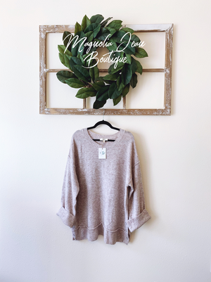 The Way You Love Me Sweater Oatmeal
