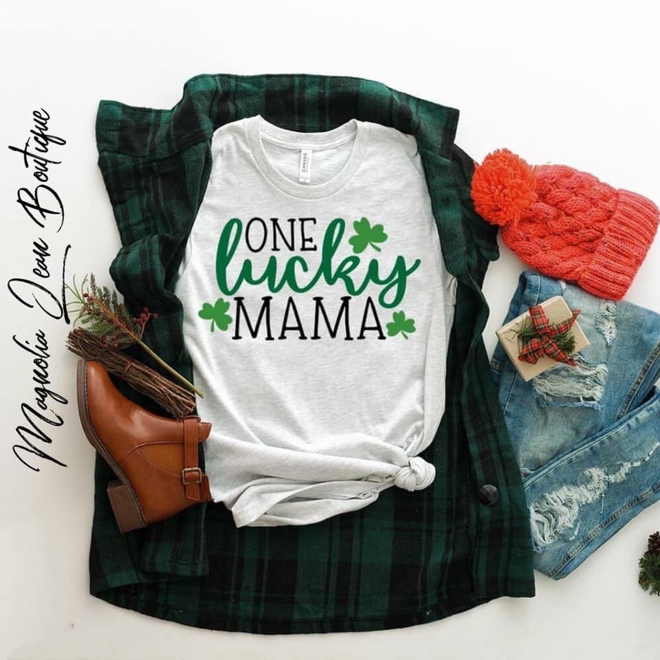 One Lucky Mama St. Patrick's Day Graphic Tee